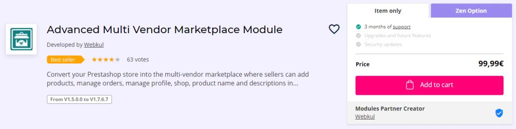 Advanced Multi Vendor Marketplace Module